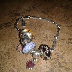 Jewelry - #DO NOT BUY-TRADING#PANDORA W/charms